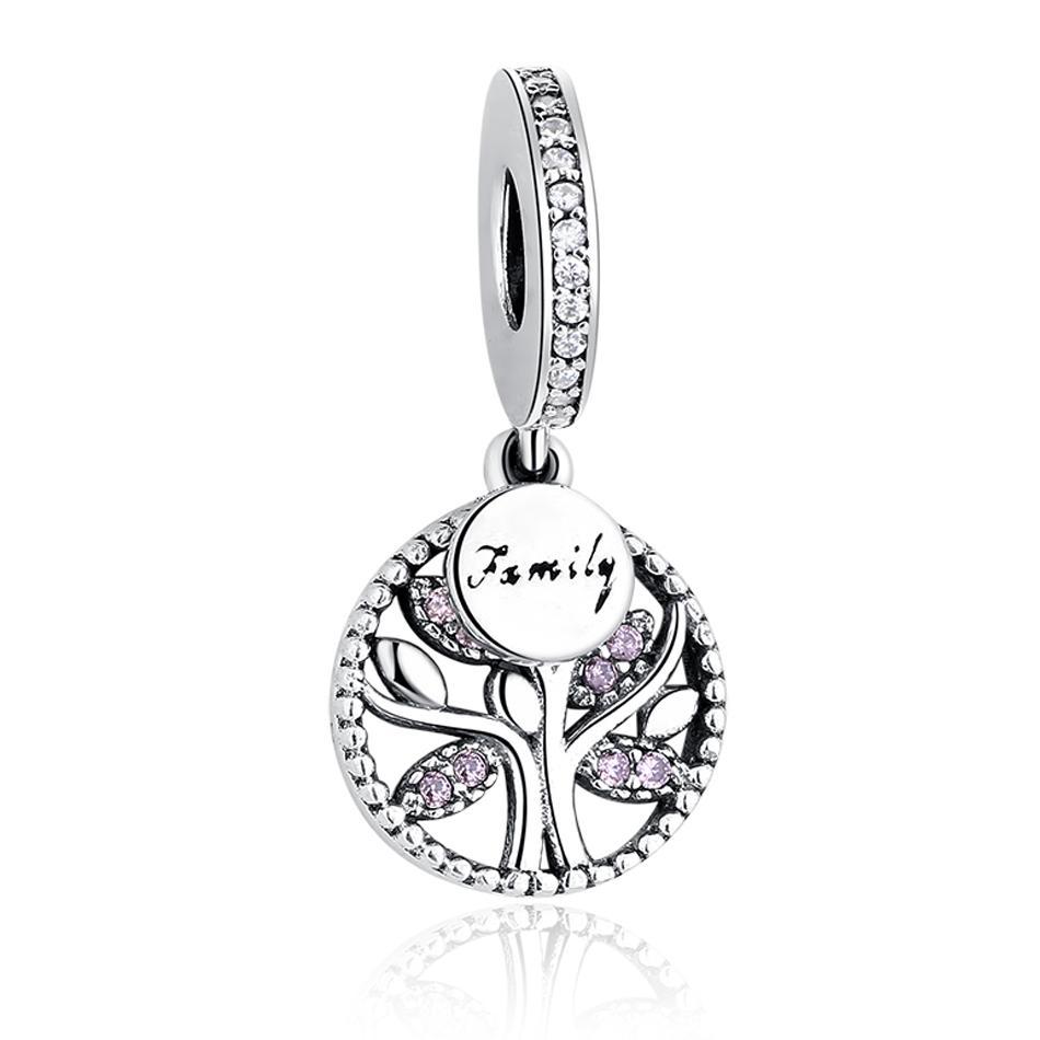 Belawang 3 أنماط 925 فضة شجرة العائلة سحر مكعب الزركون قلادة الخرز صالح باندورا braceletnecklace للنساء مجوهرات صنع