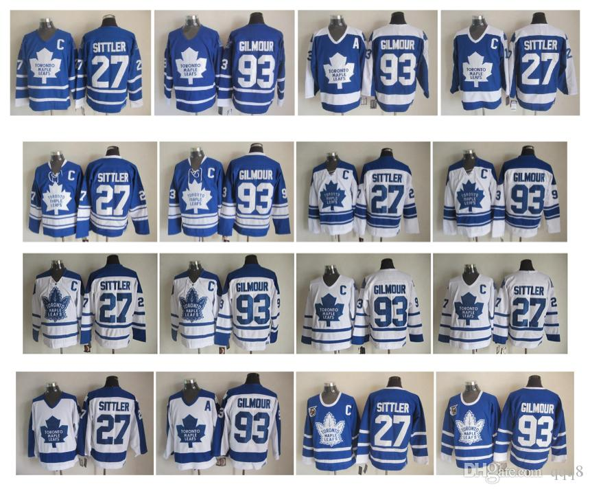81837978 2019 Retro Toronto Maple Leafs Hockey Jersey 93 Doug Gilmour 27 Darryl  Sittler Blue White Vintage CCM Authentic Stitched Jerseys From Qqq8, $26.05  | DHgate.