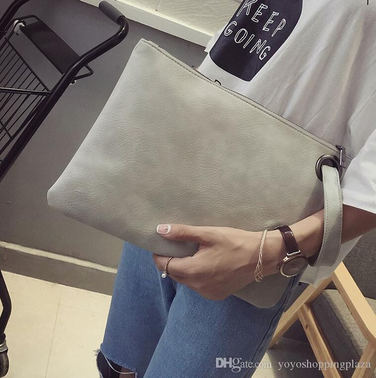 Designer Brieftasche solide elegant Frauen Clutch Bag Leder Frauen Umschlag Clutch Abendtasche