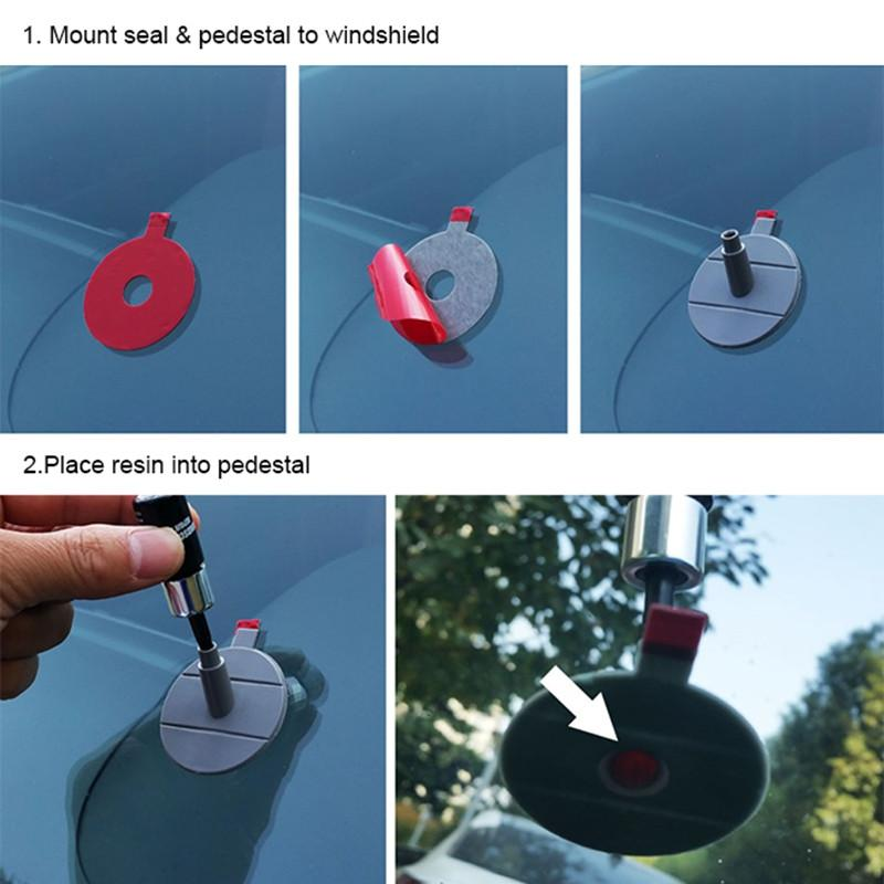DIY Cam Tamir Aracı Araba Oto Kiti Cam Çip Çatlak Ön Camını Düzeltmek Için