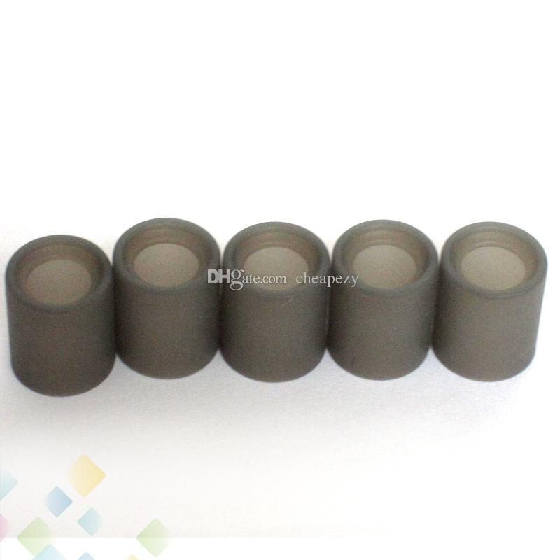 Tampas de teste de silicone macio largamente furo de gotejamento descartável tampa da tampa do bocal de borracha testador largo furo dicas de gotejamento atomizers dhl livre