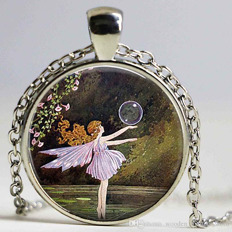 Wholesale bubble ballet fairy necklace cabochon fairy pendant glass wholesale bubble ballet fairy necklace cabochon fairy pendant glass jewelry fairy gift ballet jewelry pendant for necklace horse pendant necklace from aloadofball Image collections