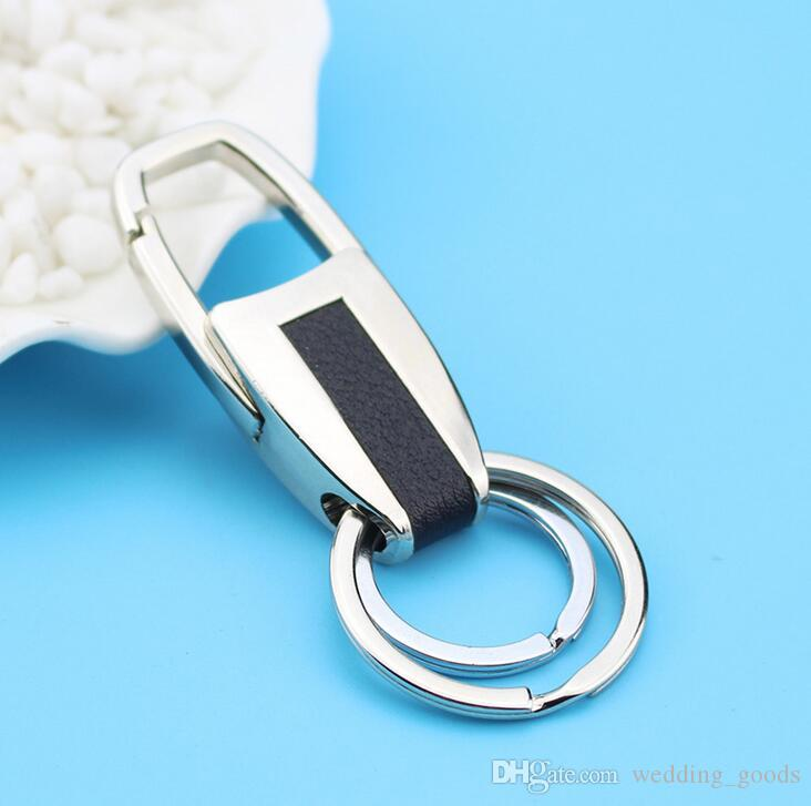 Good A++ Metal creative custom men and women business leather car key chain activities small gifts KR033 Keychains a
