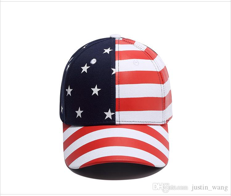 1d49abc7b09 2019 Girl New Fashion USA Flag Snapback Hat Cap Hip Hop Hats Baseball Caps  Hiphop American Flag For Men Women Unisex From Justin wang