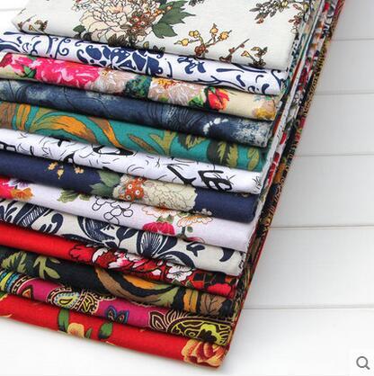 Livraison gratuite 10 couleurs ethniques robes de soie patchwork-coton-tissu, rideaux en textile, tissu satin d'impression, scrapbooking tissu pas cher floral B128