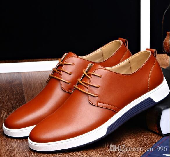 Großhandel Neue Männer Freizeitschuhe Leder Breathable Löcher Luxusmarke  Flache Schuhe Drees Schuhe Für Menepacket Freies Verschiffen Größe Eu37 48  Von ... b34dc85a12