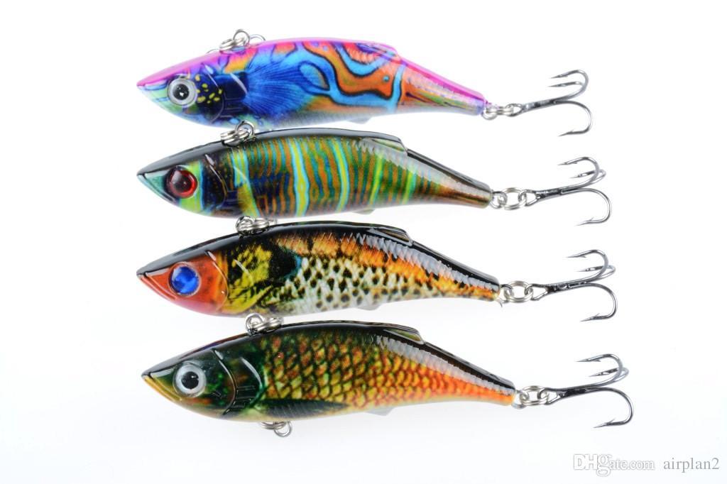 4шт Красочные картины серии бионических рыболовных приманок 8 см / 12g VIB пластиковые рыболовные приманки жесткие приманки рыболовные инструменты 1606103