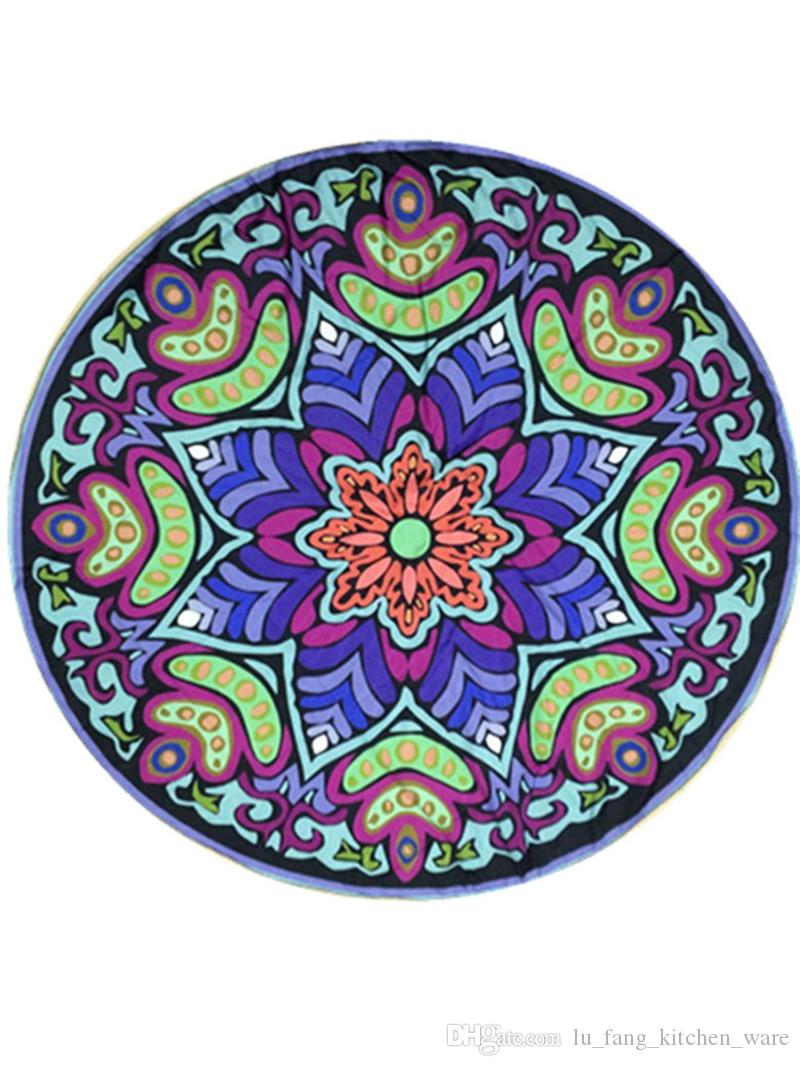 round Bohemia Thicker Beach Shawl indian mandala tapestry ethnic colorful print Hanging wall Decor Yoga Mat Bedspread Table Cloth wholesale