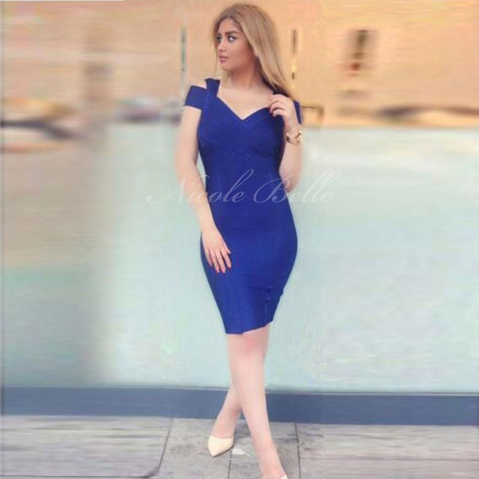 2016 Nowy Hot Runway Dress Elegancka kobieta Sexy Z Krótkim Rękawem Celebrity Evening Bodycon Prom Party Dress High Quality Dress Club