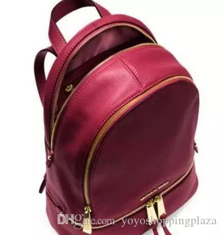backpacks designer 2017 fashion women lady black red rucksack bag charms