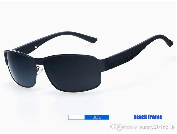 Fashion Sunglasses Polarized Sunglasses for Men Outdoor Sports Driving Sunglasses Casual Fishing Sun Glasses Big Square Metal Frame Eyewear