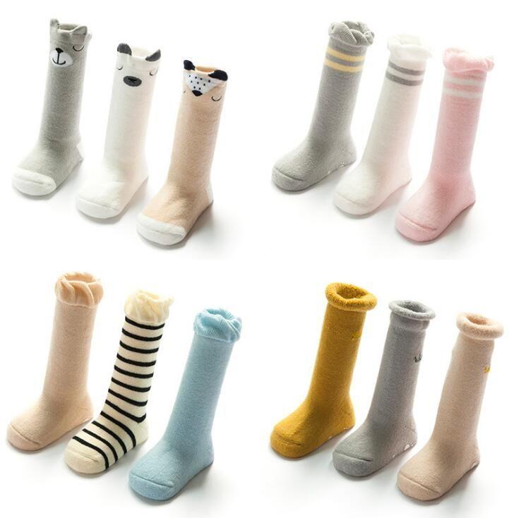 Winter warm Nonskid baby cotton socks anti-slip kids stocking Nonslip Toddler Footgear Baby Shoe Sock baby booties sox