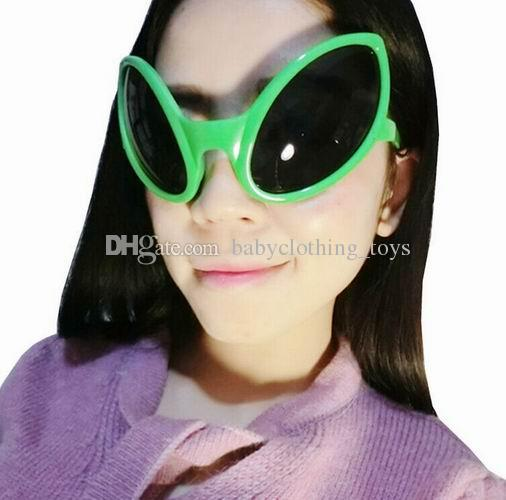 ce3f5eaa7b0 Alien Shaped Sunglasses Halloween Funny Glasses Novelty Crazy Cosplay  Costume Christmas Birthday Festival Decoration Party Props Sunglasses  Brands Best ...