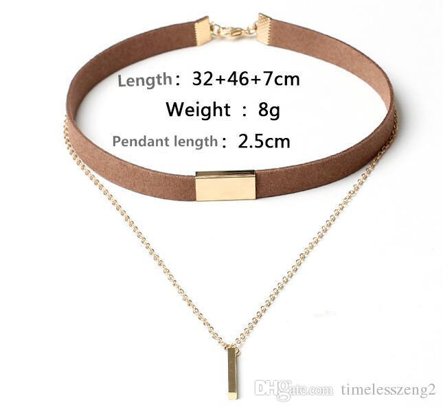 Nouvelle création Corée du Sud colliers pompon multicouche velours claviculaire bijoux collier Sautoirs 4 couleurs différentes correspondance