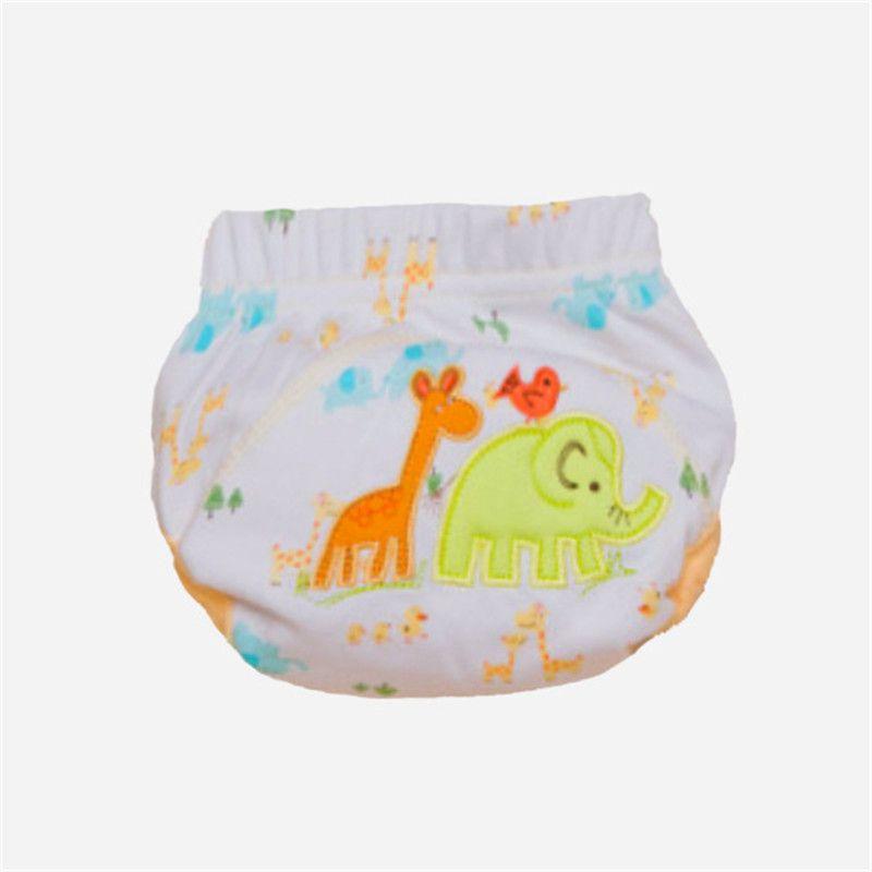 3 طبقات الكرتون الطفل السراويل التدريب للماء حفاضات بانت قعادة طفل سراويل داخلية الوليد السراويل التدريب قابلة لإعادة الاستخدام