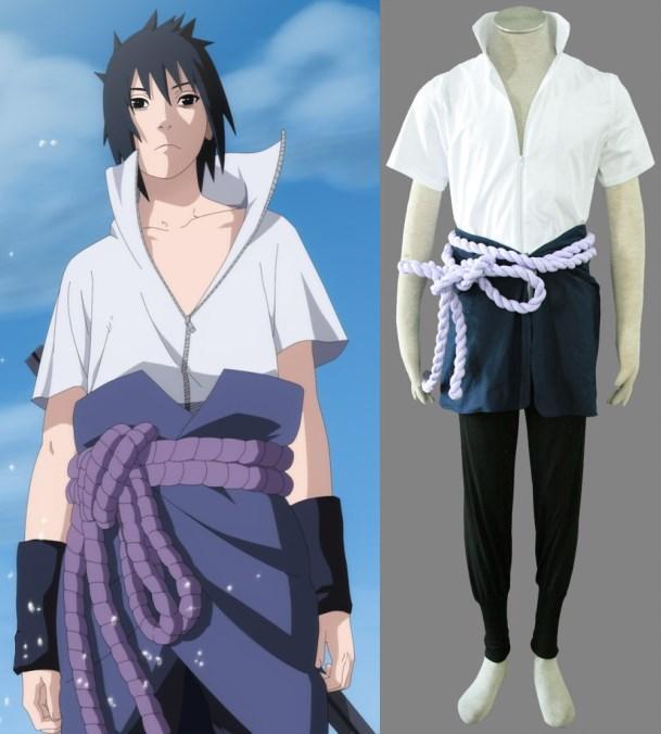 Naruto Uchiha Sasuke Cosplay Costume Halloween Mens Costumes Diy