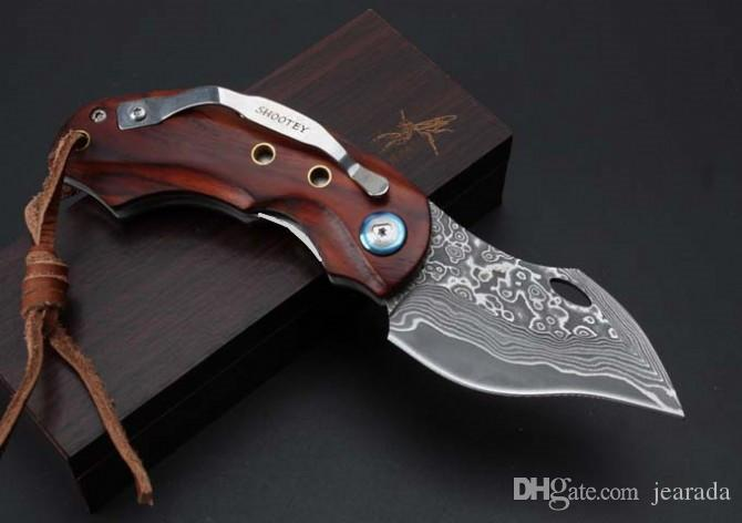 Exquisite Good quality Damascus - Male Eagle Folding Knife, outdoor survival EDC self-defense gift knives