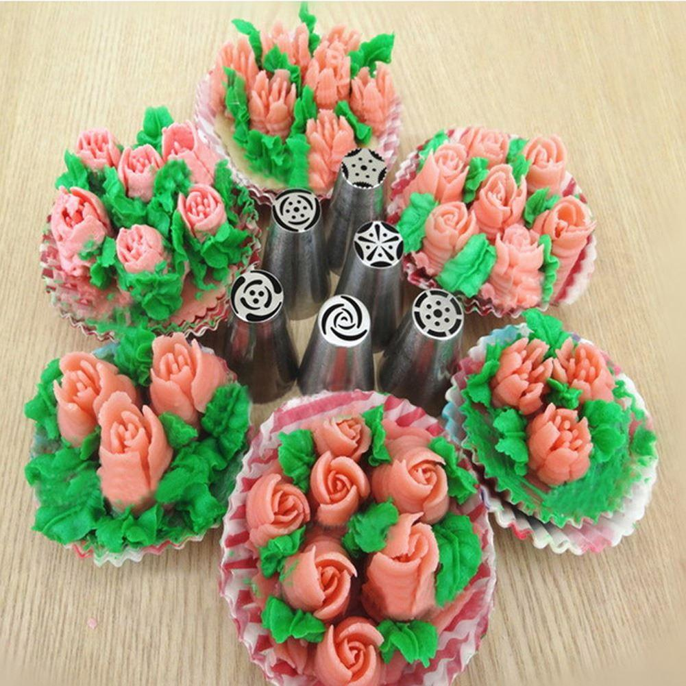 15pcs Russian Tulip Flower Icing Piping Nozzles Cake Decorating Tools Cupcake Cream Pastry Bakeware Products For Kitchen