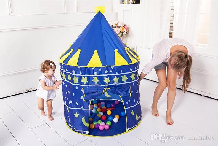 Juego de niñas y niños Juego plegable Tiendas de campaña Interior Palacio de la Princesa Castillo Juego al aire libre Tiendas de regalos de Navidad