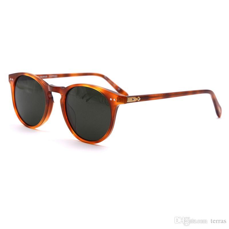 45c8f672df237 Compre Oliver Peoples Ov5256 Polarizada Óculos De Armação Redonda Óculos De  Sol Vintage Masculino 5031 Óculos De Sol Para Homens E Mulheres De Terras