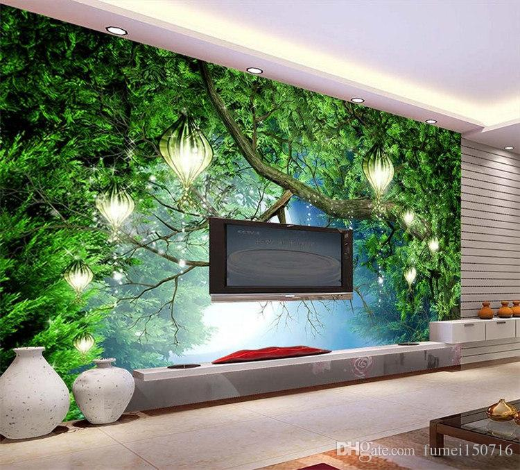 Dream animal world jungle wallpaper theme room restaurant for Ash wallpaper mural