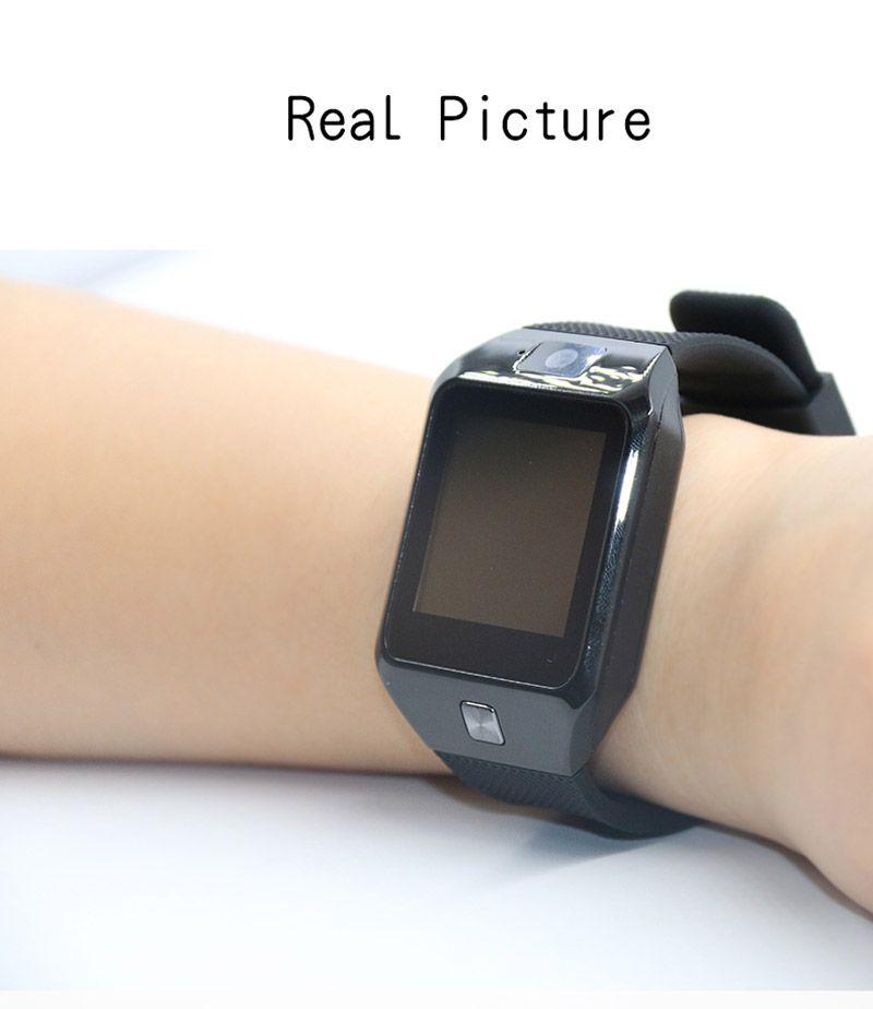 DZ09 Smart Watch supporto SIM TF orologio da polso con fotocamera anti-perso IOS Phone Android Phone Wearable Smart orologi GT08 A1