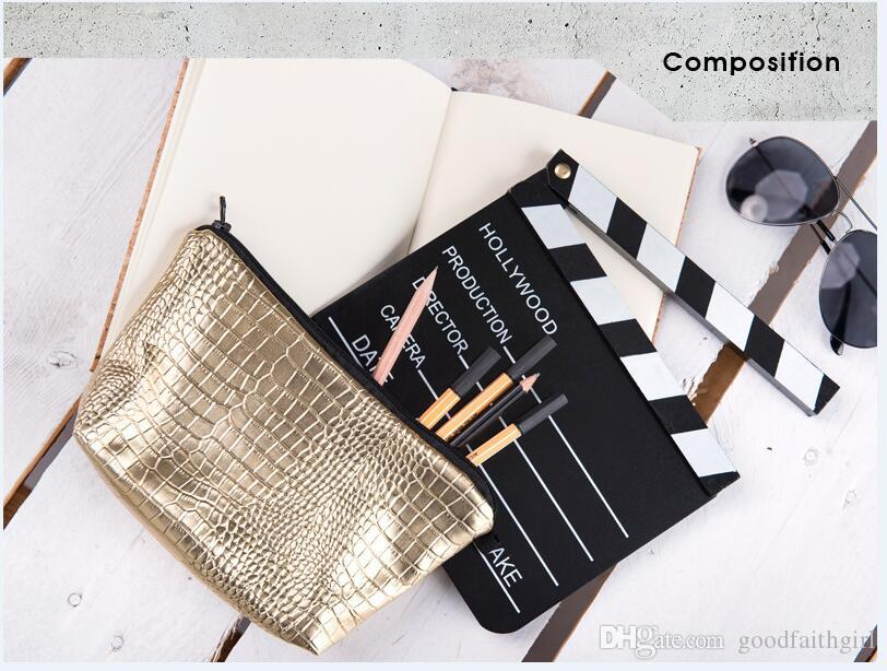 PU Makeup Bags casos lápis bolsa Womens Bolsas Casual Malas de Viagem armazenamento organizador da caixa da escova de higiene embreagem por goodfaithgirl
