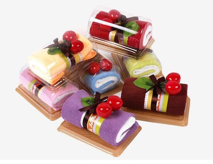 2016 New Style Cartoon Swiss Roll Cake Towel Box Packing Novelty
