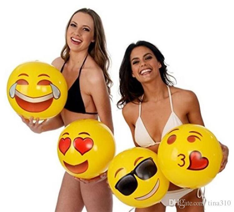 Neueste Emoji PVC-aufblasbare Wasserball-aufblasbarer Ball-Pool-im Freienspiel-Strand spielt freies Verschiffen GC23