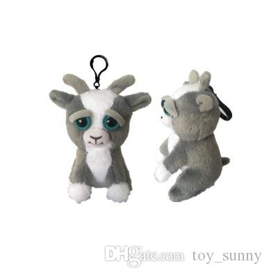 Feisty pets backpack Pendant cartoon Feisty pets plush toys keychains 10cm Stuffed Animals key ring C3298
