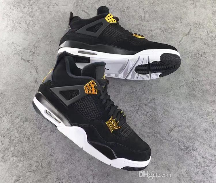 98ebd702882 2017 With Box High Quality 4s Mens Basketball Shoes 4s Royalty Black Gold 4  Superman Fashion Sports Shoes Sneakers For Men Shoes For Sale From  Sneakerlovers ...
