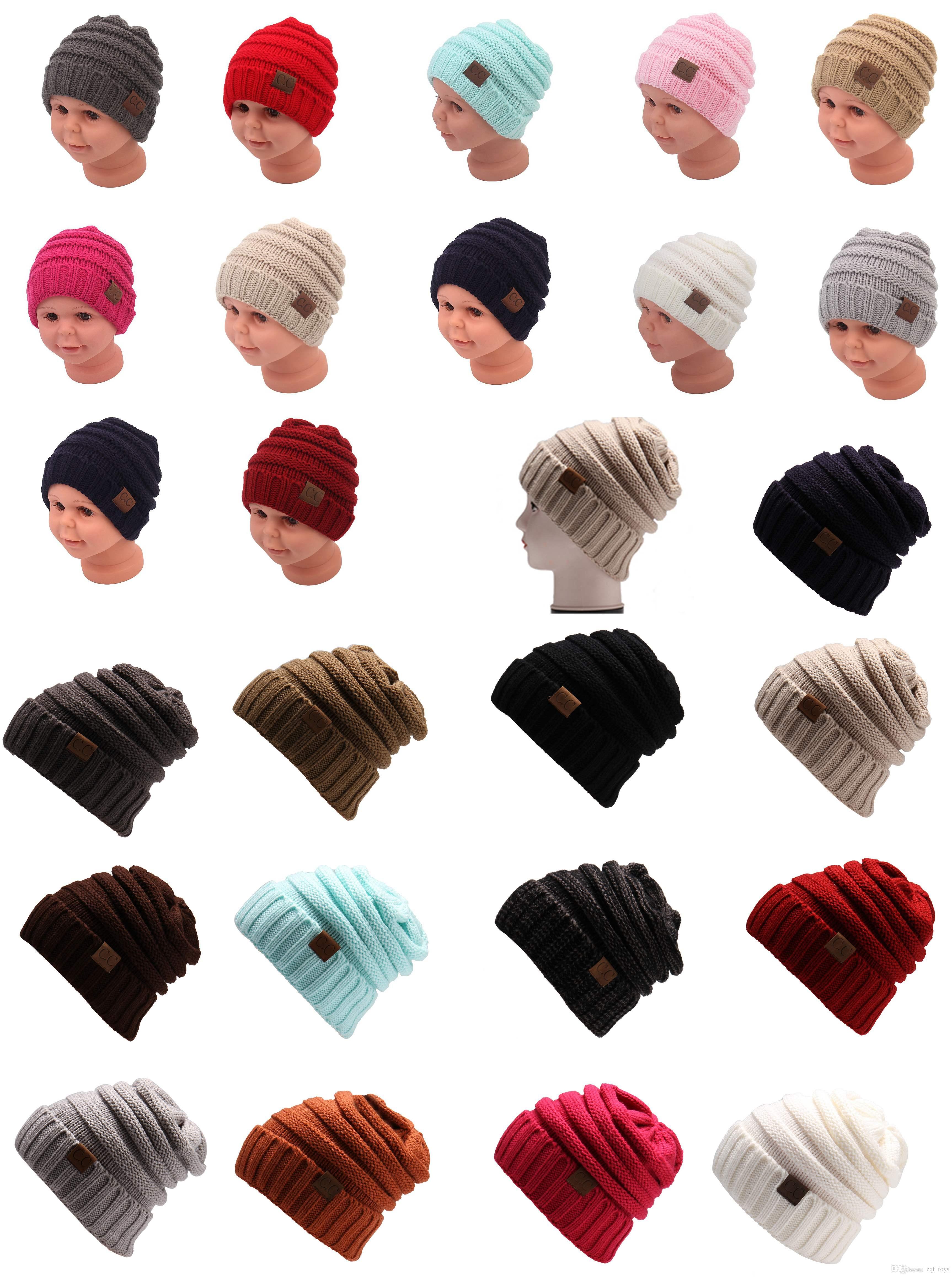 Compre Tejido De Punto Woole Cc Sombrero De Moda Sombrero Hombres ...