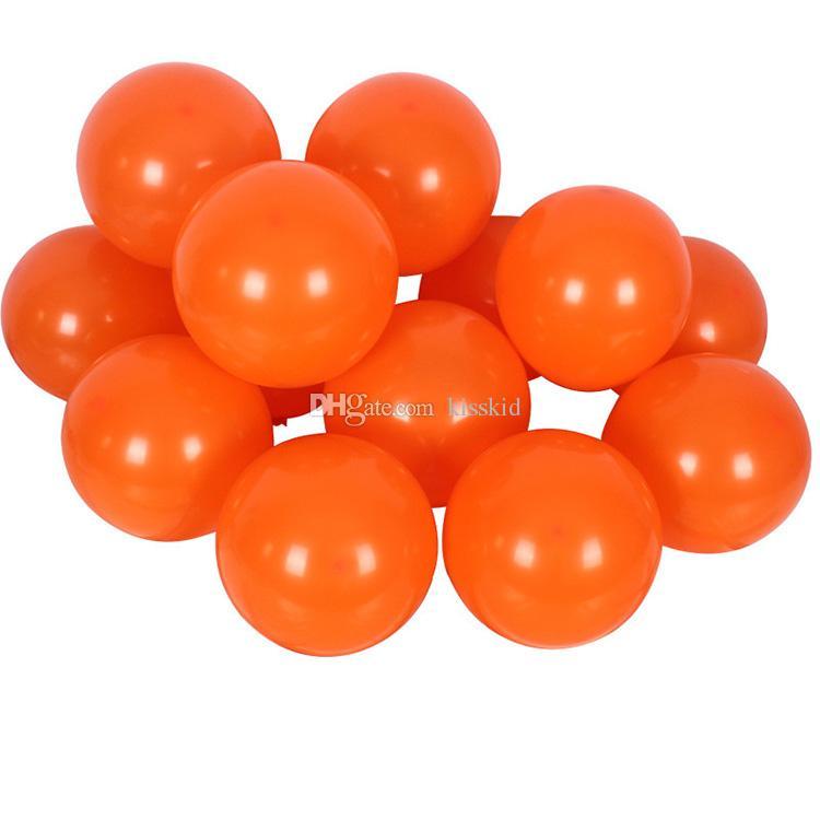 200 Unids Látex Surtido Globo Naranja Favor de la Boda Decoraciones Del Partido de Halloween Buena Calidad o Rojo Amarillo