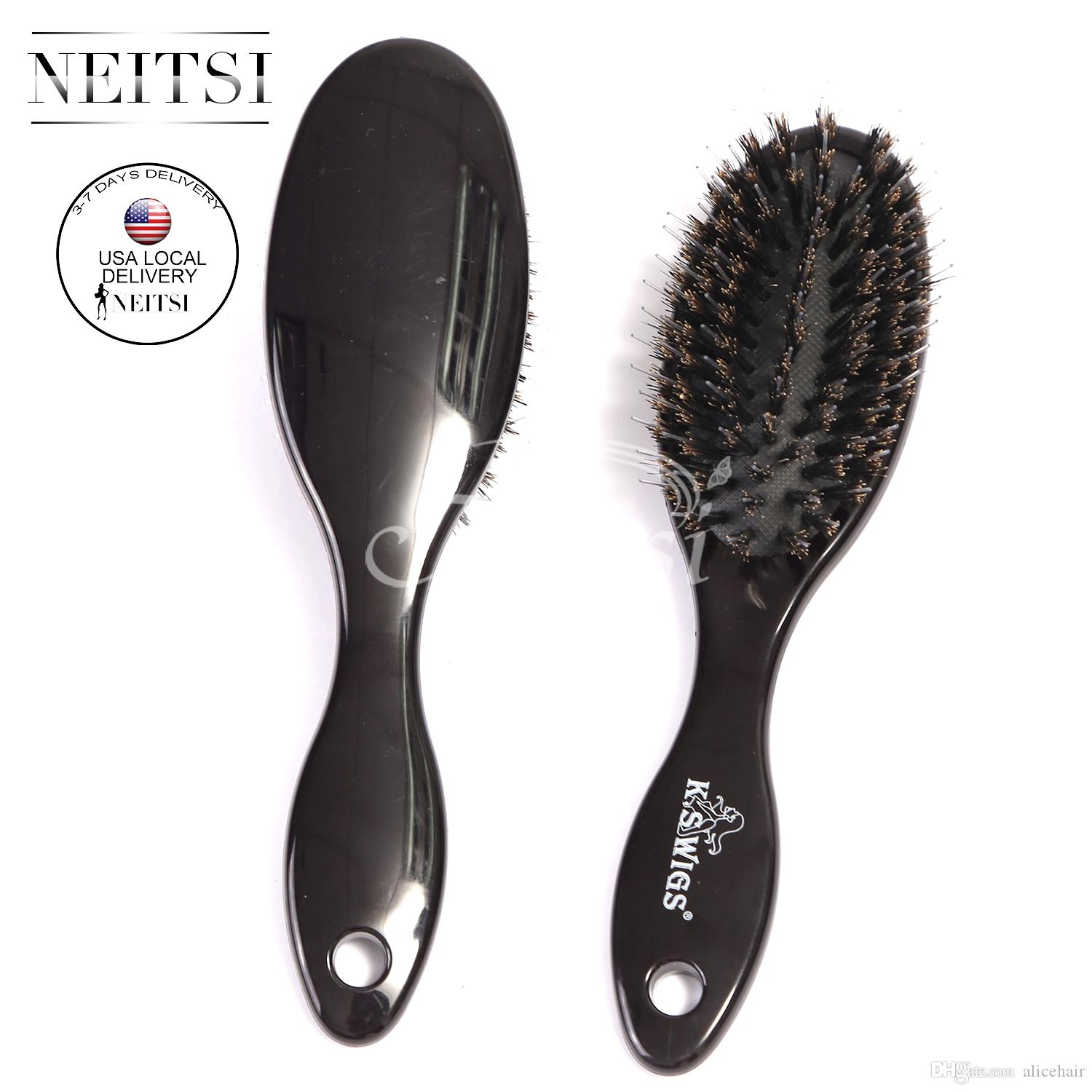 Usa Stock 18cm Bristle Brush Black Hair Combs For Hair Extensions