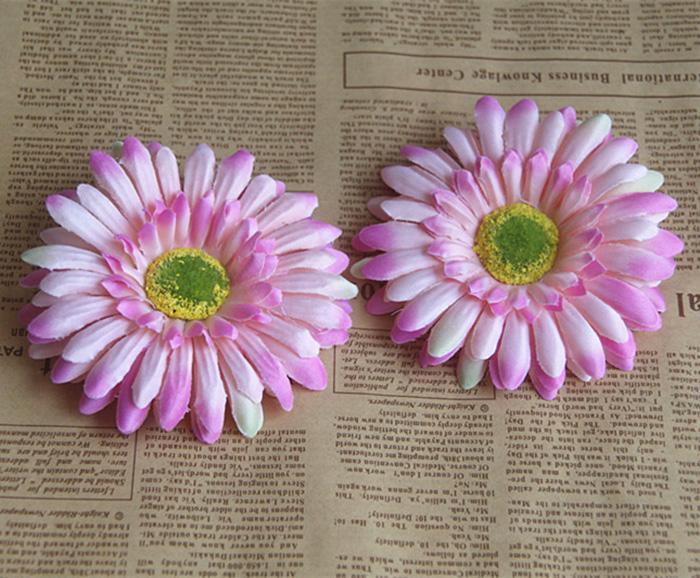 12CM diameter artificial african chrysanthemum daisy flower head used for wedding car/wall/hat/hair or garden ornament large