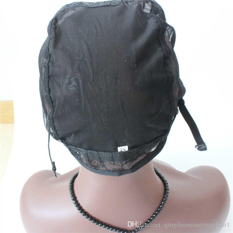 In Stock best quality U Part Wig Caps Full Cap For Making Wigs Stretch Lace With Adjustable Straps Back Weave Cap
