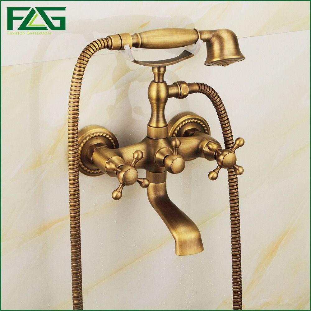 2018 Flg New Arrival Rain Shower Faucets Mixer Tap+Handheld Antique ...