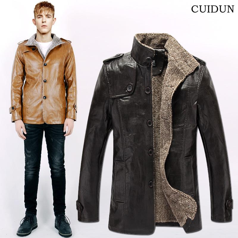 2017 Mens Faux Fur Coat Uk Plus Size Stand Collar Epaulet Single ...