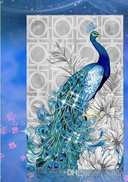 Special Shaped Diamond Embroidery Animal Peacock 5D Diamond Painting Cross Stitch 3D Diamond Mosaic Decoration bead DIY