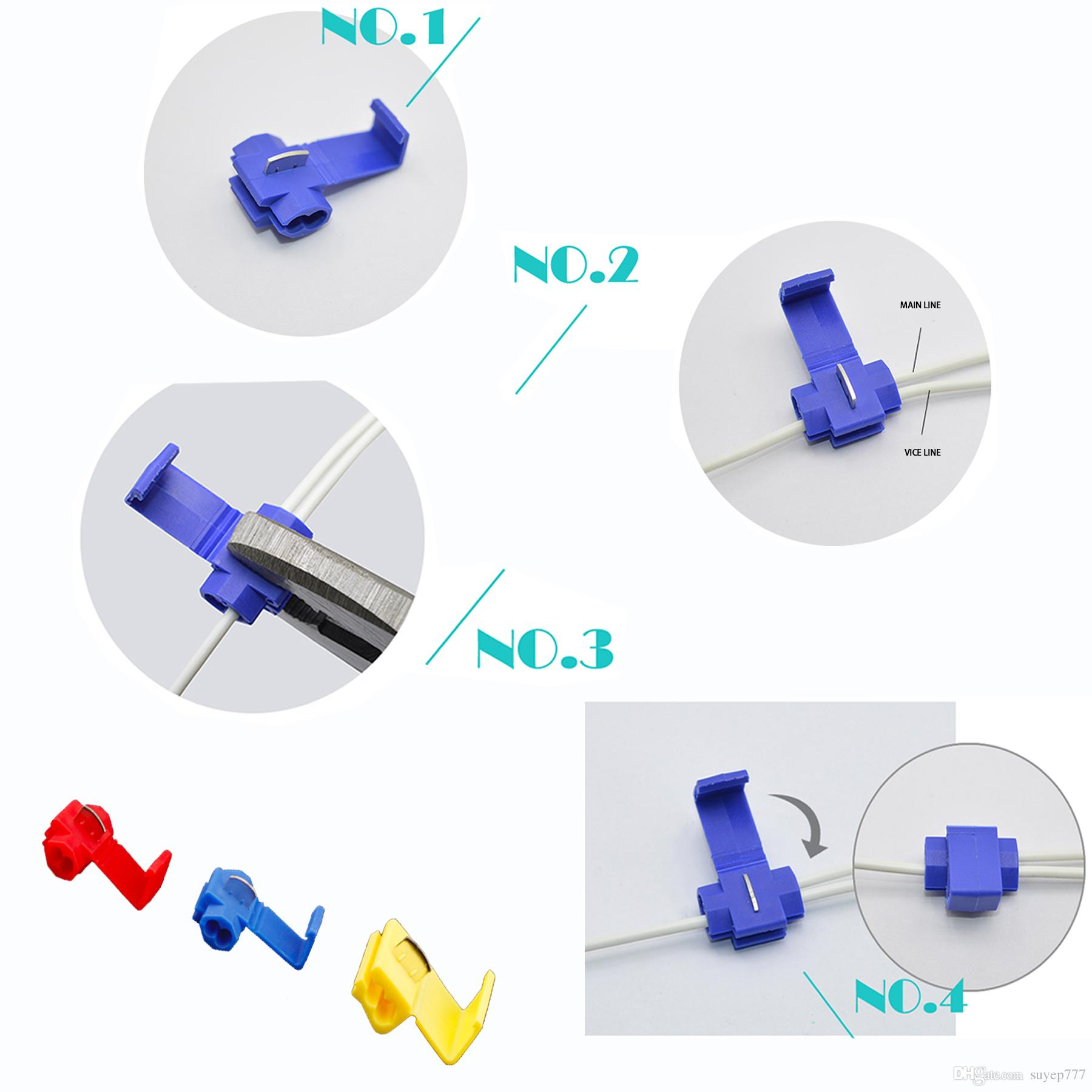 Wire Crimp Terminals Quick Splice Wiring Connector Cable Clamp red  Lock Wire Electrical Cable Connector