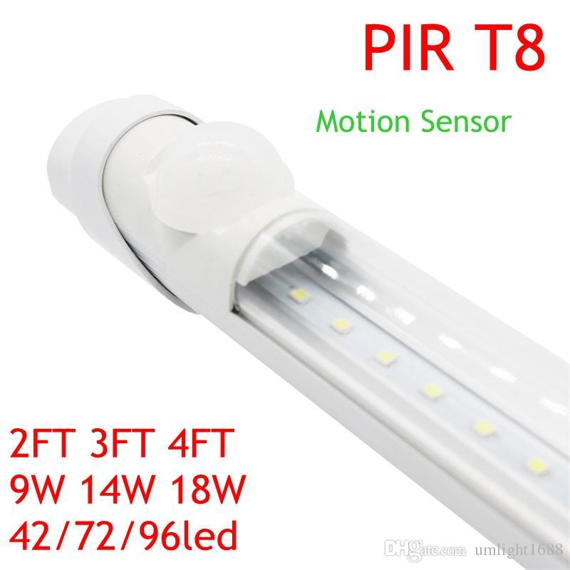 Pir Infrared Motion Sensor Led Tube T8 Light 90 240v G13 Wall Lamp