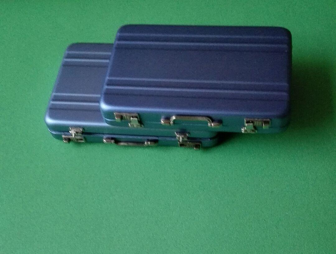 Алюминиевый пароль box Card Case мини чемодан пароль портфель черный