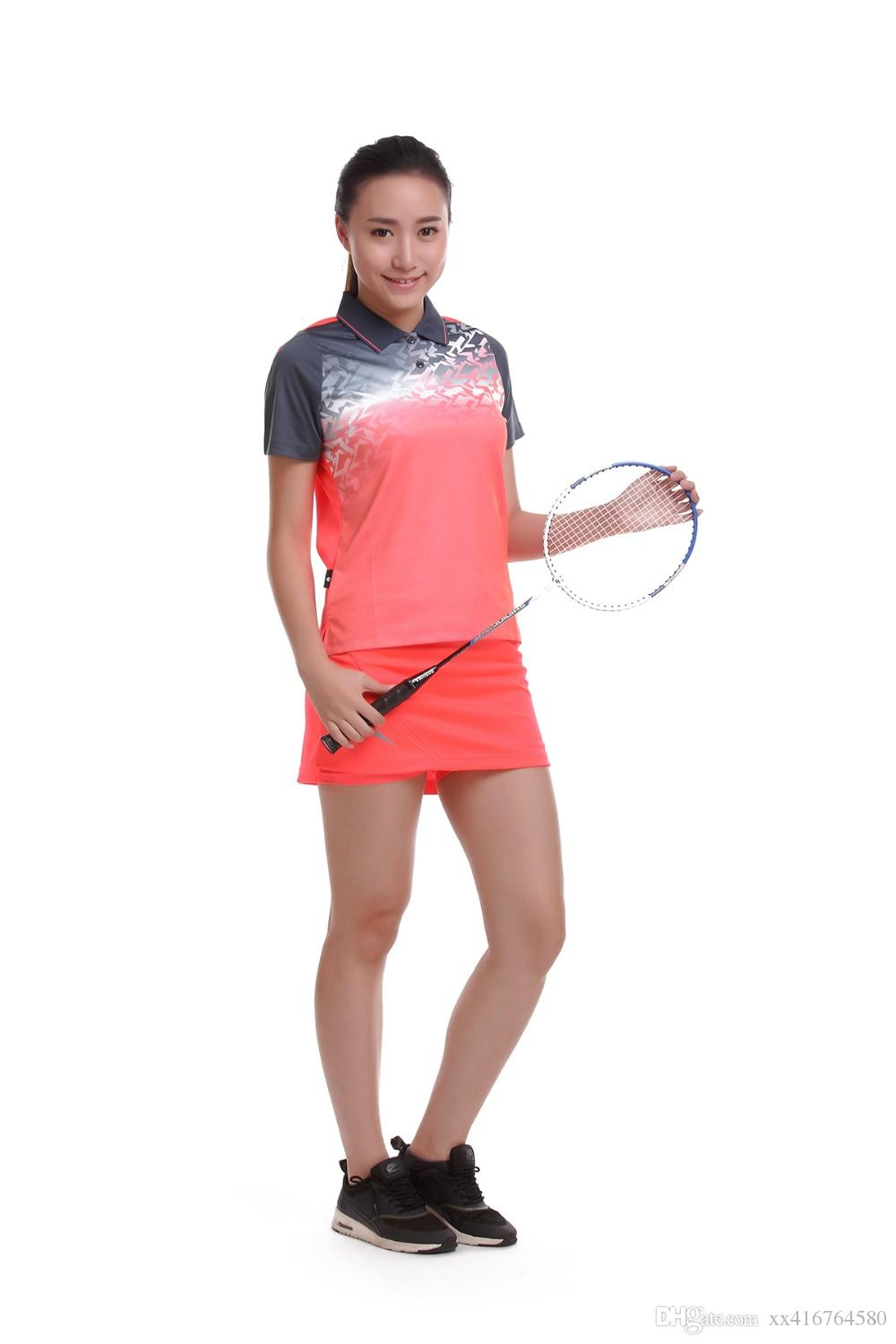 Sportswear sweat Quick Dry breathable badminton shirt , Women/Men table tennis clothes running training Exercise POLO T Shirts