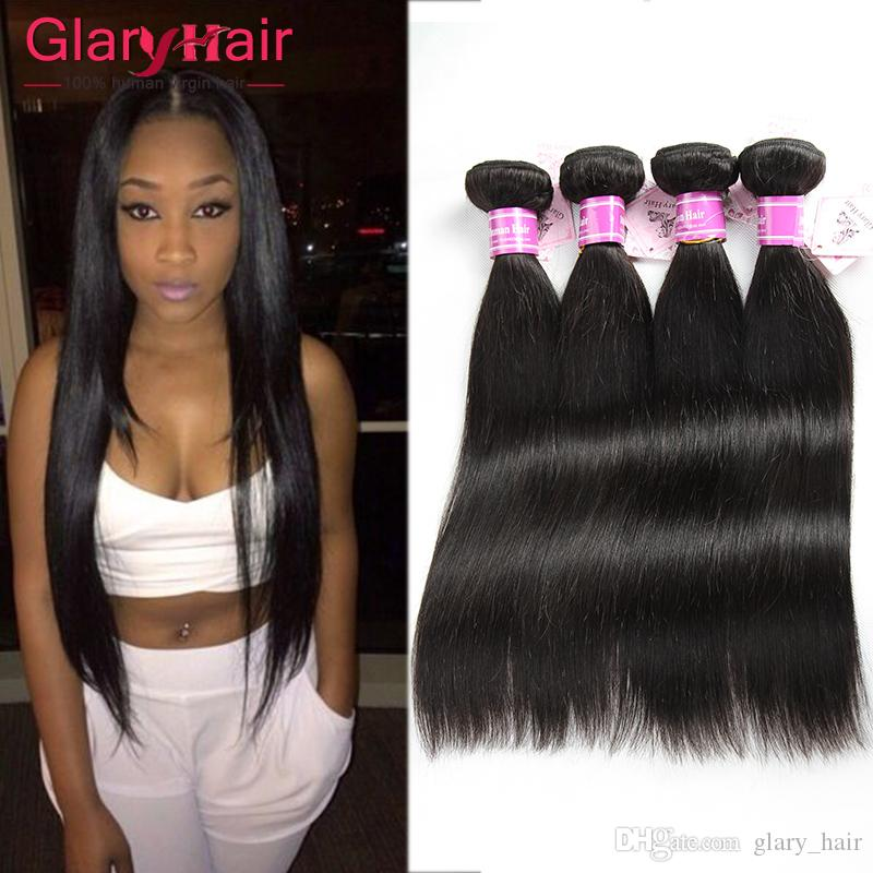 Cheap Unprocessed Brazilian Remy Hair Weaving Peruvian Silk Straight
