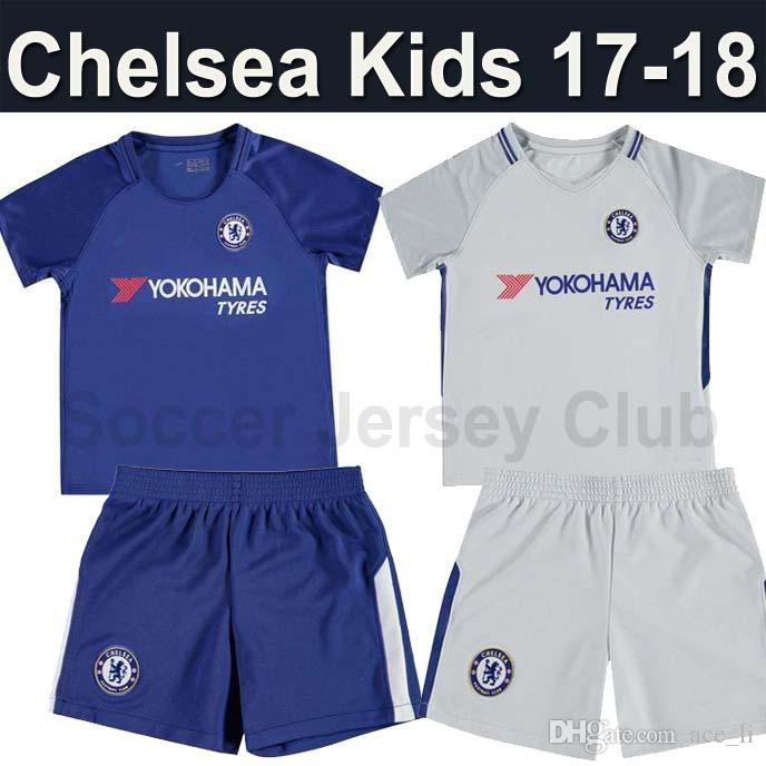 quality design c897e f8a1c chelsea 4 fabregas blue home youth kids child short sleeves ...