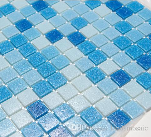 2018 Hot Melting Glass Mosaic Tiles,Waterblue Bathroom Tiles,High ...
