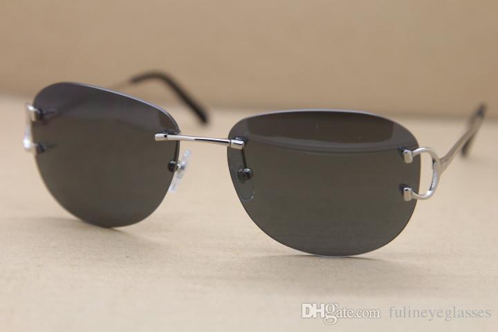 Nueva tendencia de moda gafas de sol marca de calidad 2017 gafas de sol calientes para las mujeres precio bajo UV400 gafas de sol de protección 4193828 sin montura Sungl