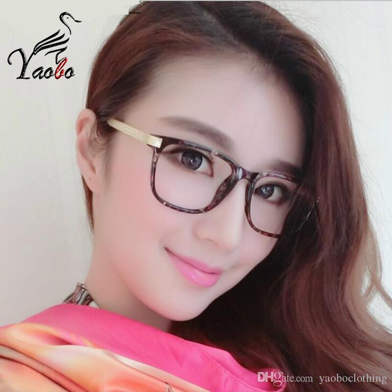 cdfe1cdd264ec Compre Yaobo 2017 Mulheres Óculos Miopia Óculos De Computador Óptico Quadro  De Design Da Marca Simples