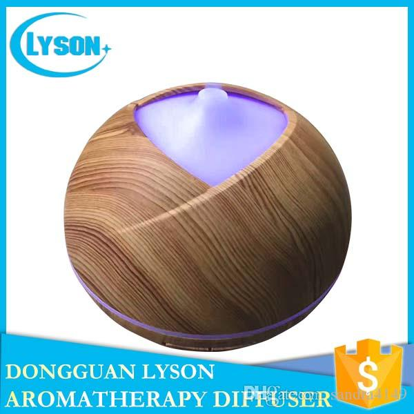 SPA 300ml Capacity Ultrasonic Essential Oil Aromatherapy Diffuser Cool Mist Wood Grain Aroma Humidifier Air Purifier
