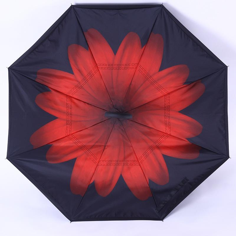 C J ручка зонтик ветрозащитный обратный складной двойной слой перевернутый зонтик Self Self Inside Indole Out Out Rain Protection C Tool для автомобиля